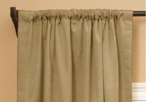 Custom rod pocket drapes
