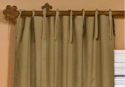 Custom tie drapes
