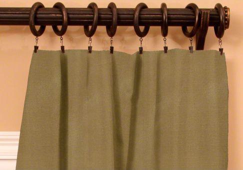 Custom clip top drapes