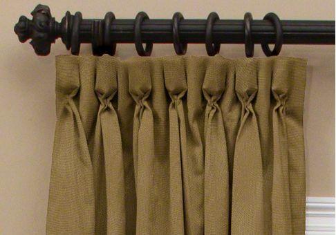Custom goblet pleat drapes