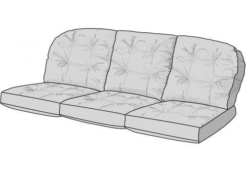 Custom Wicker Sofa Cushions; Tufted Wicker Sofa Cushions ...