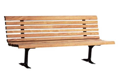6 Classic Wood Park Bench Commercial Site Furnishings