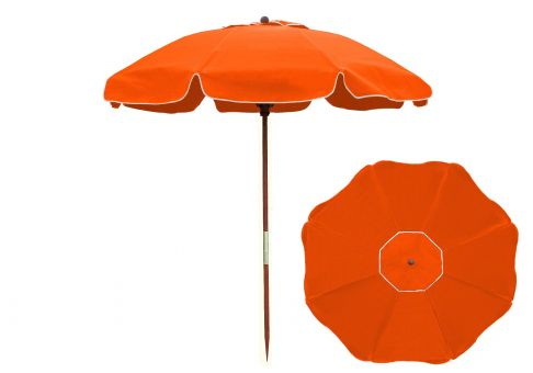 7 5 Ft Orange Wood Beach Umbrella Umbrella Source