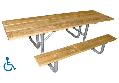 ADA Wood Picnic Table Commercial Site Furnishings - Ada picnic table requirements