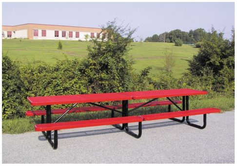Foot Standard Expanded Metal Picnic Table Commercial Site - 12 foot picnic table