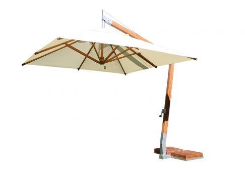 10 Commercial Square Bamboo Cantilever Umbrella
