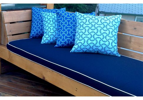 Sunbrella Navy Bench Cushion