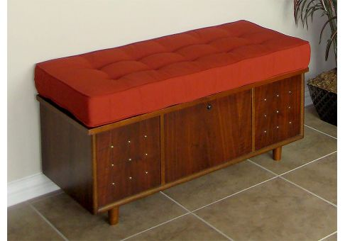 deluxe custom bench cushion with buttons cushion. Black Bedroom Furniture Sets. Home Design Ideas