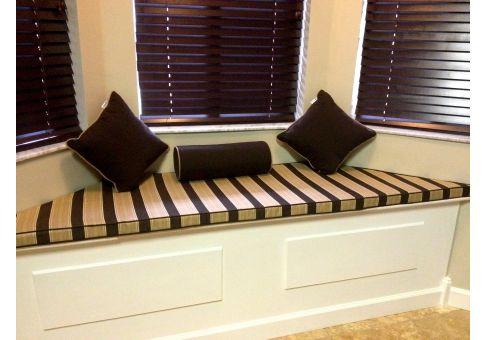 trapezoid bay window cushion sunbrella davidson walnut bay window cushion shop cushions