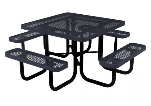 Webcoat QuickShip In Square Expanded Metal Picnic Table - Square metal picnic table