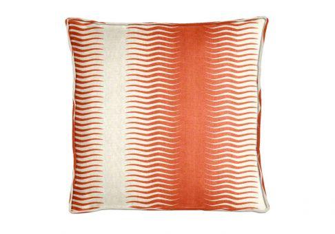 Robert Allen Gita Stripe Persimmon Throw Pillow