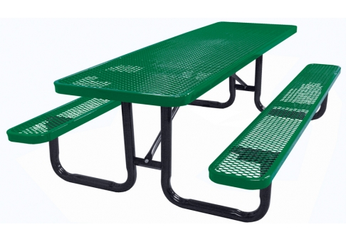 8 foot expanded metal picnic table commercial site furnishings picnic table rectangle picnic table expanded metal watchthetrailerfo