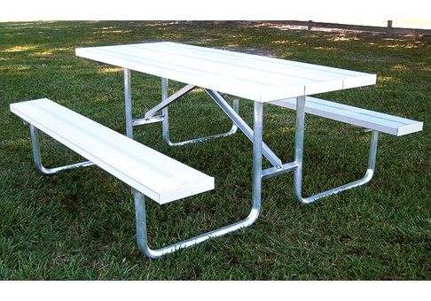 Standard AT Series Picnic Table Frame Commercial Site Furnishings - Aluminum picnic table frame