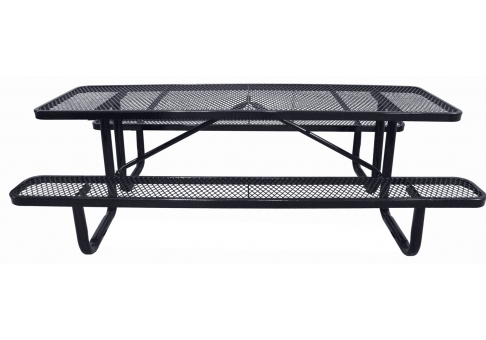 expanded metal style sample picnic table commercial picnic table single post table single post picnic table - Metal Picnic Tables