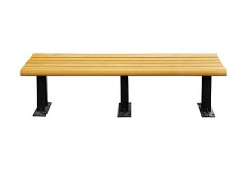 6 Foot Modern Backless Recycled Plastic Bench Commercial