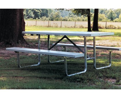 Standard PT Series Picnic Table Commercial Site Furnishings - Aluminum picnic table frame