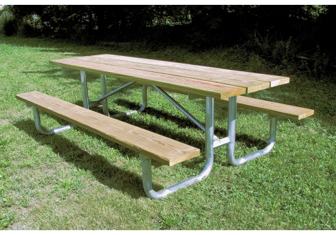 ... Wood Picnic Table, Steel Picnic Table