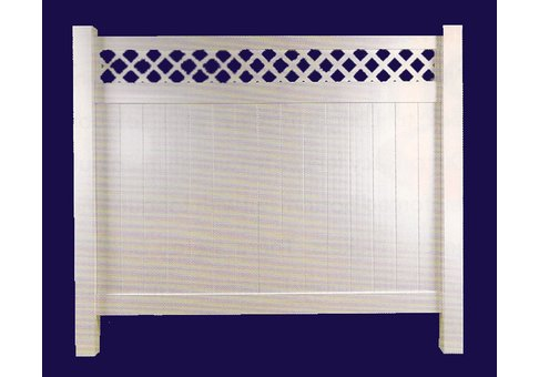 Vinyl Privacy Fencing with Lattice
