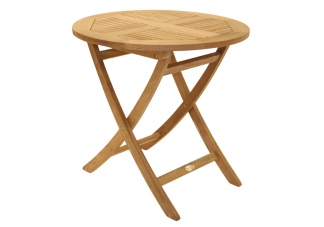"30"" Round Folding Teak Sailor Table"