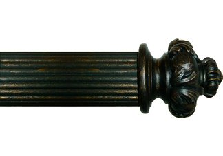"House Parts Crown Finials for 2-1/4"" or 3"" pole"