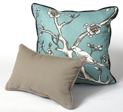 CushionSource.com Blossom Jade Taupe Set