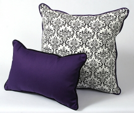 CushionSource.com Madison Purple Twill Set