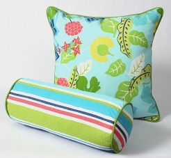CushionSource.com Baja Floral Stripe Set