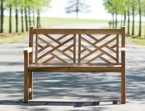 Teak Cross Back Bench