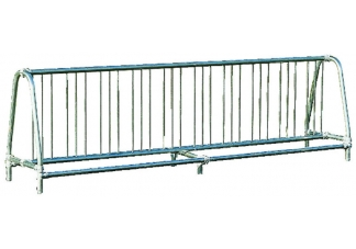Commercial Park 10 Double Sided Bike Rack- Portable, Galvanized