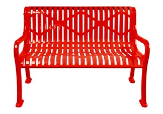 Diamond Outdoor Bench With Arms