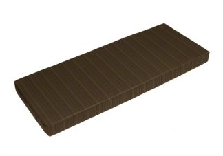 Sunbrella Dupione Walnut Bench Cushion