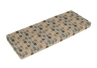Sunbrella Blox Slate Bench Cushion