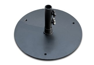 50 lb Black Steel Base Umbrella Stand