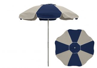 Commercial Patio Umbrella 8 Panel Champagne with Vent