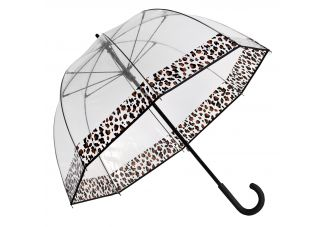 Premium Fiberglass Bubble Umbrella - Cheetah Trim