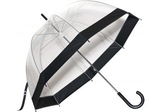 Clear Bubble Umbrella - Black Trim