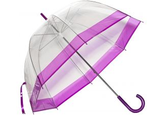 Clear Bubble Umbrella - Purple Trim