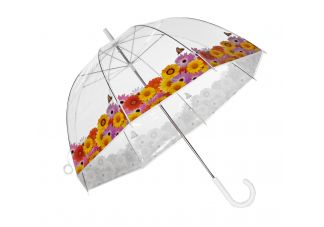 Clear Printed Bubble Umbrella-Spring Flowers
