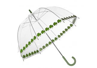Clear Printed Bubble Umbrella-Shamrock String