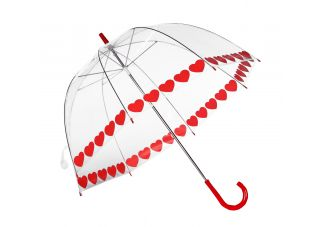 Clear Printed Bubble Umbrella-Heart String