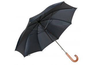 Classic Black Doorman Umbrella with Curved Handle