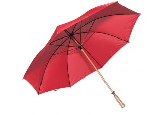 Wooden Shaft Golf Umbrella-Red