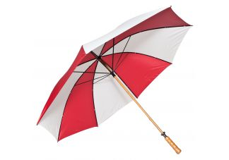 Wooden Shaft Golf Umbrella-Red and White