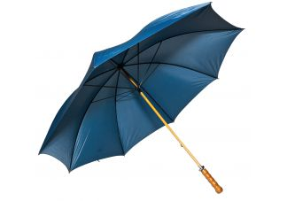 Wooden Shaft Golf Umbrella-Navy Blue