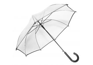 Auto-Open Clear Umbrella-Black