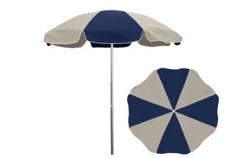 Commercial Patio Umbrella 8 Panel Silver Pole