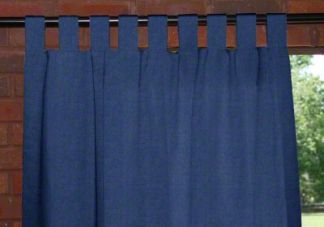 Custom Tab Top Outdoor Drapes