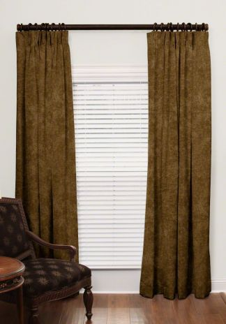 Custom French Pleat Velvet Drapes
