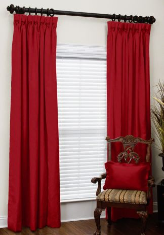 custom goblet pleat drapes