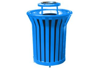 trash cans, trash receptacles
